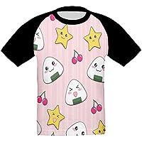 チェリー おにぎり かっこいい ベビー フロントプリント半袖 Tシャツ快適 子供 夏 トップ おもしろい 上着