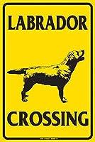 ラブラドールクロッシング 金属板ブリキ看板警告サイン注意サイン表示パネル情報サイン金属安全サイン