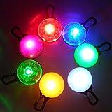 LED ペンダント 犬 猫 の 首輪 に 夜の散歩でも ペットの位置を光で知らせます (7色発光)