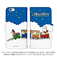 ZenFone 4 ZE554KL ケース [デザイン:1.汽車/マグネットハンドあり] ハローキティ Hello Kitty サンリオ 手帳型 スマホケース カバー ゼンフォン ze554kl