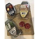 Yankee Candle Variety/Random Grab Bag Variety Scents New Fragranced Wax Melts 3 Pack with 8x10 Burlap Bag and 2 Bonus Wax Tea