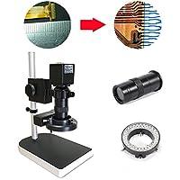 Tfcfl 16MP 1080p 10x - 100X HDMIデジタル業界顕微鏡セットカメラビデオズームレンズ