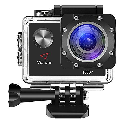 Victure アクションカメラ 12MP 30M防水 1080P FHD 170度広角 1050mAh電池 複数アクセサリー ドラレコ機能
