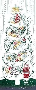 kenema 和雑貨 注染手ぬぐい 『和楽』白雪ツリー 54559 36×90cm