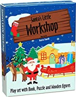 My Very Own Santa's Workshop: Book + Wooden Figures + Cardboard Elements + Puzzles