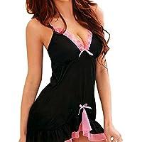 Lookatool 1PC Women Babydoll Chemise Dress Lingerie Racy Sleepwear Dress+Thongs