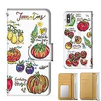 全機種 手帳型 SHARP Disney Mobile (DM-02H) 手帳ミラータイプ トマト Tomato オーガニック ガーデニング ベジタブル スマホケース 携帯カバー スマホカバー[mobile88 正規品] t270