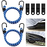 Gust Guard, Magicfly Car Cover Straps Wind Protector, Gust Strap Car Cover Cable and Lock Kit for Car Cover, SUV Cover, Truck Cover