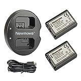 Newmowa NP-FW50 互換バッテリー 2個+充電器 は NP-FW50 Alpha a6000 a6300 Alpha 7 a7 7R a7R 7S a7S ¥ 2,607