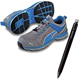 PUMA(プーマ) 安全靴 エキサイト 26.5cm ブルー ロー 消せるボールペン付きセット 64.227.0