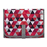 Baby Portable Changing Pad, Diaper Bag, Travel Mat Station Red Pattern Compact