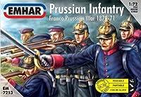 Emhar Prussian Infantry - Franco Prussian War 1870-71 - 1:72 Plastic Model Kit by Emhar