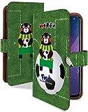 AQUOS sense3 plus ケース 手帳型 くまモン サッカー 芝 緑 おもしろ 面白い スマホケース アクオスセンス3 プラス アクオス センス3 アクオスセンススリープラス + 手帳 カバー AQUOSsense 3plus AQUOSsense 3plusケース AQUOSsense 3plusカバー ゆるキャラ ご当地キャラ くまもん [くまモン サッカー 芝 緑/t0780c]