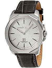 [ペリー・エリス]Perry Ellis 腕時計 DECAGON(デカゴン) クォーツ 46 mmケース 本革バンド 05007-01 メンズ 【正規輸入品】