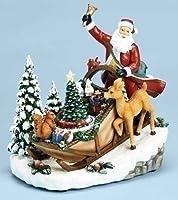 8.5で」Musical回転Lightedサンタクロースソリon Hillクリスマスデコレーション