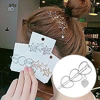 PFJJ 女性女の子女性子供のヘアクリップ帽子Hairwearファッションゴールデンシルバー現代の猫スターヒトデビーチパーティー (Color : Green)