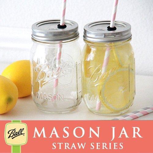 メイソンジャー Ball Mason jar メイソンジャータンブラー ストロー用 480ml (クリア)