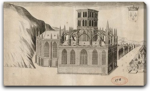 "The Chapel Of Deノートルダム大聖堂リジューby Claude Chastillon 15"" x 26"" AMAZN16810-EDGW-1526"