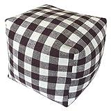コージカンパニー 枕 ブラウン 16×16×16cm 備長炭セラミック テレビ枕 チェック 120105