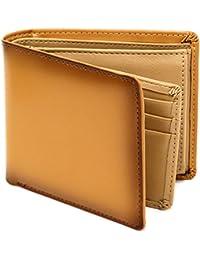 Mru(エムアールユー) 財布 二つ折り財布 革 牛革 ボックス型小銭入れ ベラ付 多カード収納 ビジネス メンズ