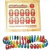 ABCドミノ 104pcs. 【知育玩具 おもちゃ ドミノ倒し 英語 遊び 3歳から アルファベット 文字 F7351-05】