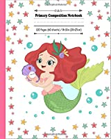 Primary Composition Notebook: Mermaid  with shell journal with draw and write space for little princess girl and boys. Dotted midline, half blank and with  picture space book,  grades k-2 story paper journal | 120 Story Pages | 8 x 10 inch