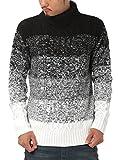JIGGYS SHOP (ジギーズショップ) ニット セーター メンズ タートルネック ケーブル編み 厚手 長袖 防寒 ボーダー アメカジ S C グラデーション