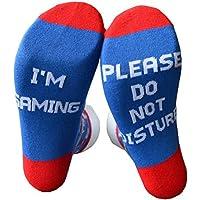 Socks Unisex DO NOT Disturb I'm Gaming Funny Socks Letter Jacquard Breathable Cotton Ankle Medium Tube Socks Novelty Game Lovers