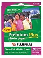 (1) - FujiFilm Inkjet Premium Plus Paper Glossy 8.5 x 11 (20)