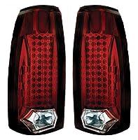 Chevrolet Suburban / Tahoe 19921993199419951996199719981999テールランプ、LEDルビーレッド44LED 's-1ペア