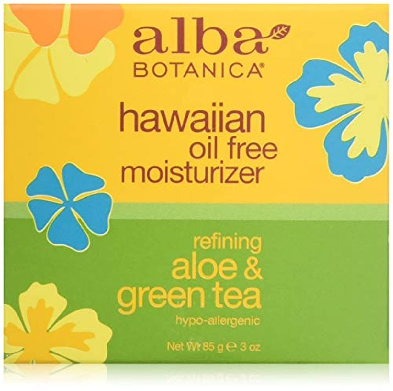 裸セグメント構造Alba Botanica, Aloe & Green Tea Oil-Free Moisturizer, 3 oz (85 g)