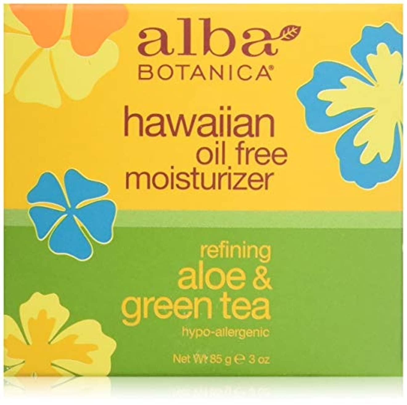 組測る変装したAlba Botanica, Aloe & Green Tea Oil-Free Moisturizer, 3 oz (85 g)