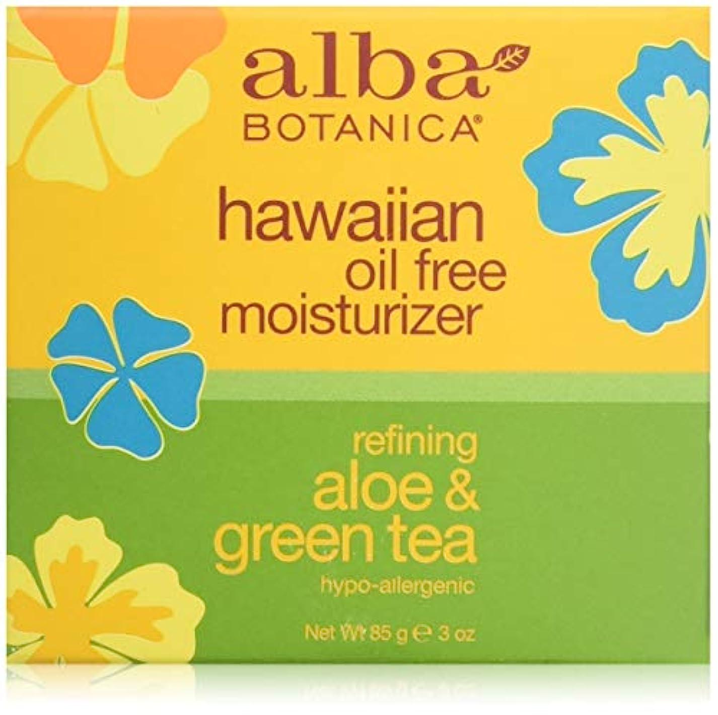 寛大さもっと少なく章Alba Botanica, Aloe & Green Tea Oil-Free Moisturizer, 3 oz (85 g)