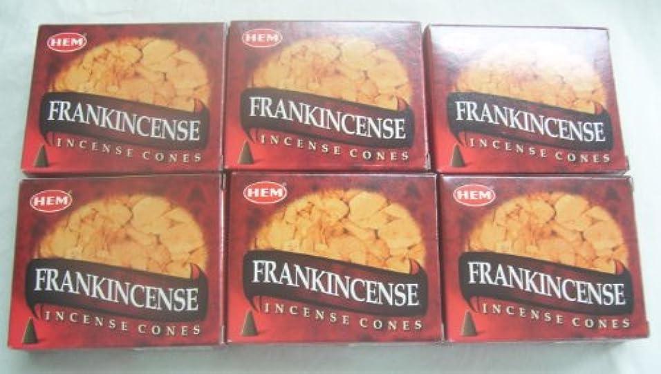 ラケットありふれた気晴らしHemフランクインセンス香コーン、6パックの10 Cones = 60 Cones