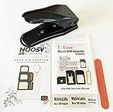【Amazon限定】SIMパンチ (micro/nano 対応SIMカッター) + SIMアダプター4点セットブラック + SIMアダプター5点セット+ヤスリ付き i-Plus Companyオリジナル