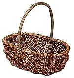 大橋新治商店 収納バスケット Willow Basket ブラックウイローフリーバスケット オーバル L 11-762の写真