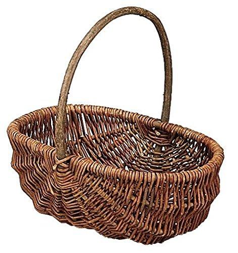 RoomClip商品情報 - 大橋新治商店 収納バスケット Willow Basket ブラックウイローフリーバスケット オーバル L 11-762