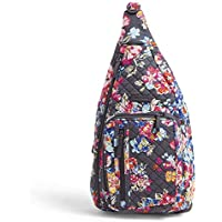 Vera Bradley Iconic Sling Backpack, Signature Cotton, Pretty Posies