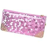 (ケーナマム)K-NMam レディース 長財布 ウォレット ラウンドファスナー かわいい 大容量 小銭入れ (紫)