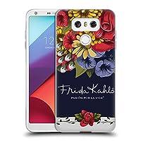 Official Frida Kahlo ブルーム レッド・フローラル ソフトジェルケース LG G6 / G6 Dual