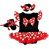 Newborn Baby Girl Halloween Costume Princess Cosplay Fancy Dress up Birthday Outfit Playwear