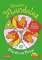 VE5: Magische Mandalas: Pferde und Ponys: Malen und entspannen fuer Kinder - mit 2 Postkarten zum Heraustrennen!