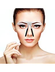 眉毛テンプレート 眉毛の定規 メイクアップ 美容ツール アイブローテンプレート アートメイク用定規 美容用 恒久化粧ツール 左右対称 位置決め (01)