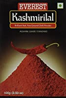 Everest Kashmiri Lal Ground Spice Used in Dishes for Its Hot Taste and Reddish Color (100 Gms) - 並行輸入品 - エベレスト・カシミール・ラル・グラウンド・スパイスは熱い味と赤みを帯びた色(ボックス、100 Gms)