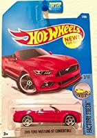 Hot Wheels 2017 Factory Fresh 2015 Ford Mustang GT Convertible 7/365 Red [並行輸入品]