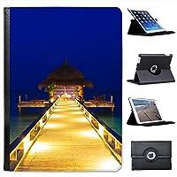トロピカルレザーフォリオプレゼンターケースカバーバッグスタンド機能付きApple iPad Air 2[ 2014年バージョン] ブラック FOL-IA2-PL-138インナー