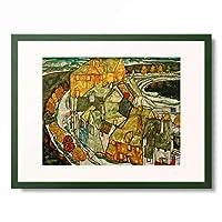 エゴン・シーレ Egon Schiele 「Der Hauserbogen」 額装アート作品