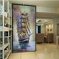 Wxmca 壁紙3 Dヨーロッパスタイルの入り口美しいセーリングの壁紙リビングルームロビー廊下装飾背景壁画-280X200Cm