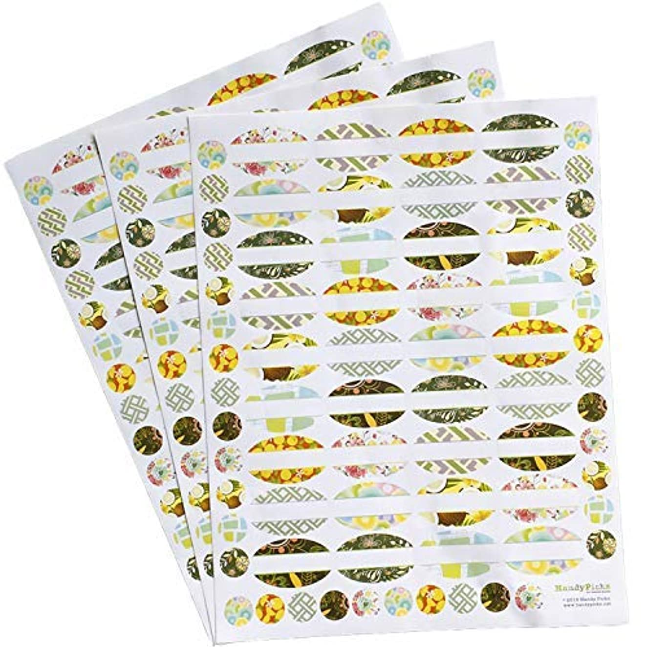 Essential Oil Labels (108 Lables n 108 Tops), Oval Weatherproof Hand Written Labels for Essential Oil Bottles...