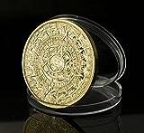 太陽の石 マヤ アステカ 文明 暦 ツォルキン カレンダー コイン 硬貨 コレクション 資料 用 天文学 神聖暦 儀式暦 選べる4種 (金 ゴールド 1)